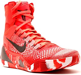 Kobe IX 9 Elite Strategy Knit Stocking 630847-600 Crimson Flyknit Men's Shoes (Size 10)