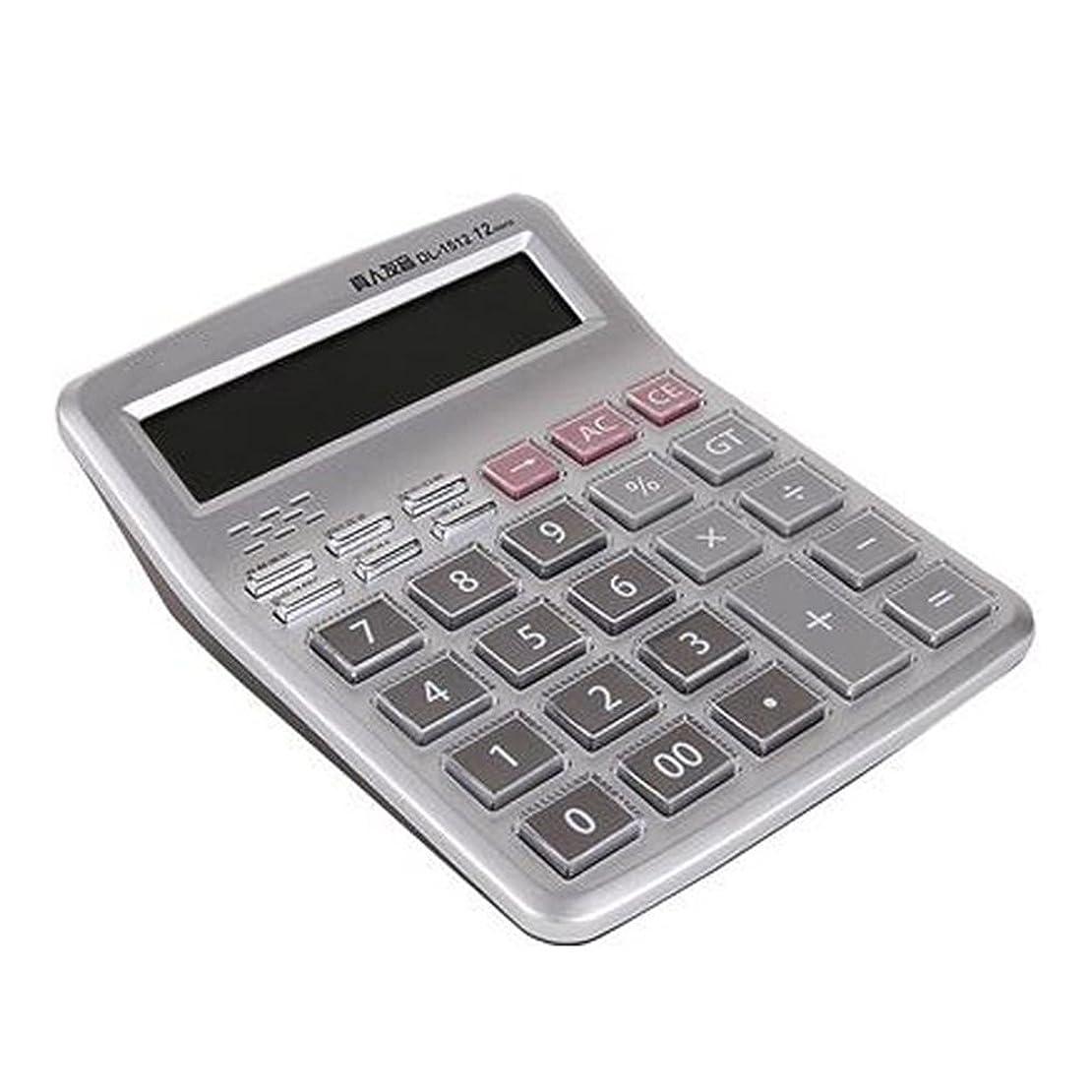 あいにく食べる擬人studyset基本的な電卓、12桁Talkingデスク電卓、音声タイプ電卓Office Supplies
