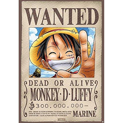 Abismal - Placa de Metal - una Pieza -Luffy Wanted (28x38) - 3700789200031
