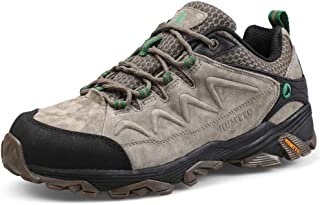 Hiking Shoes for Men Leather Climbing Trekking Shoes Outdoor Low-Top Traveling Sneakers