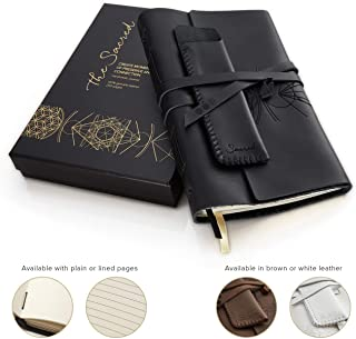 large blank leather journal