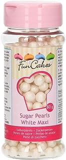 comprar comparacion FunCakes Funcakes Sprinkles Decoraciones Perlas Azúcar De 7Mm Blancas Brillantes, Shiny White 80 g
