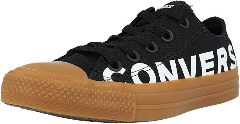 Converse Chuck Taylor All Star Wordmark Ox Black/Gum Honey Canvas Adult Trainers Shoes