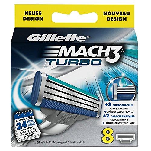 Auslaufmodell Gillette MACH3 Turbo Rasierklingen, 8 Stück