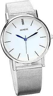 BEAUTYVAN Hot New Women's Fashion Geneva Roman Numerals Faux Leather Analog Quartz Wrist Watchs (D)