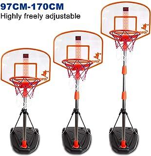 comprar comparacion TOBY - Canasta de baloncesto ajustable con soporte para canasta de baloncesto (170 cm)