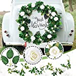 yisiqico wedding decorations,16 flowers artificial rose faux greenery hanging floral vine decorative for wedding wall decor