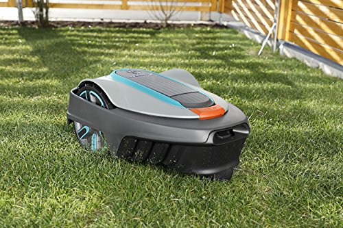 GARDENA Smart SILENO City Set 300: Robotic Lawnmower for Lawns up to 300 m², Inclines of up to 35 %, Can be Controlled Via App, Including Maintenance Set (19300-28)