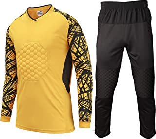 Shinestone Youth Adult Men s Goalkeeper Armor Padded Shirt Pants with  Sponge Chest Protector for Football Soccer 7104a64fe3e8f