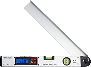Proster Digital Angle Gauge 0-225° Digital Inclinometer Protractor Angle Finder with LCD Spirit Level 400mm/16 inch for Vertical Horizontal Dual Spirit Level
