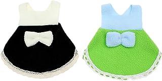 Alfie Pet - Jayden 2-Piece Set Dresses for Small Animals Like Mouse, Chinchilla, Rat, Gerbil and Dwarf Hamster - Color: Gr...