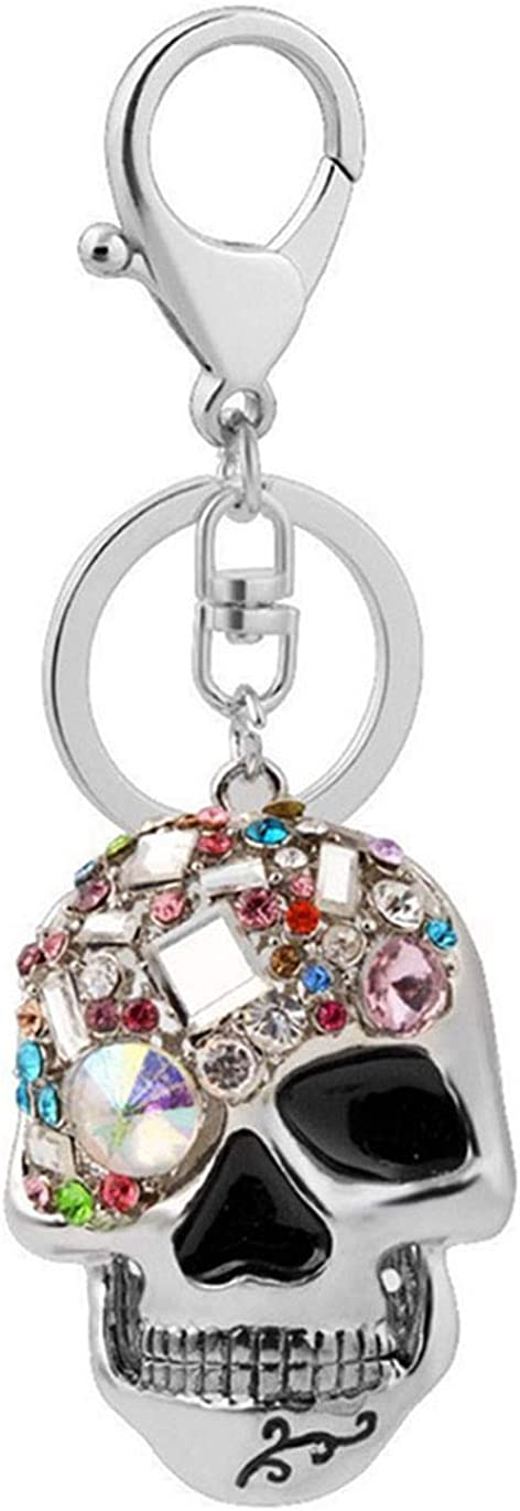 Skull Omaha Mall Key Keychains 3D Creative Blings Crystal Outlet ☆ Free Shipping Novelty Ani