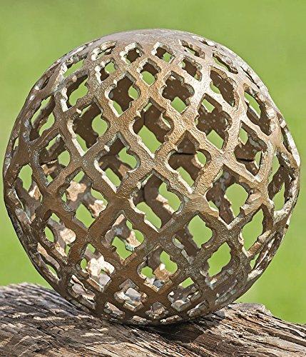 Dekokugel Kugel Bathi Aluminium grün Gartendeko Dekoration Dekoidee (D 20cm)