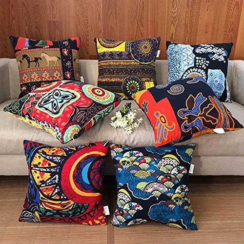 Yoole EU Fundas de cojín de 45 x 45 cm, fundas de cojín impresas, fundas de almohada decorativas para sofá, sala de estar, dormitorio (40 x 40 cm, B)