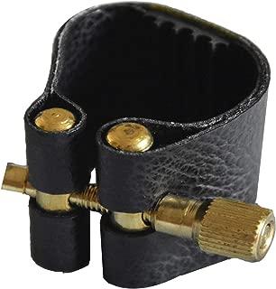Sax Ligature Black Leather Ligature for Alto Saxophone Ligature Bakelite Mouthpiece
