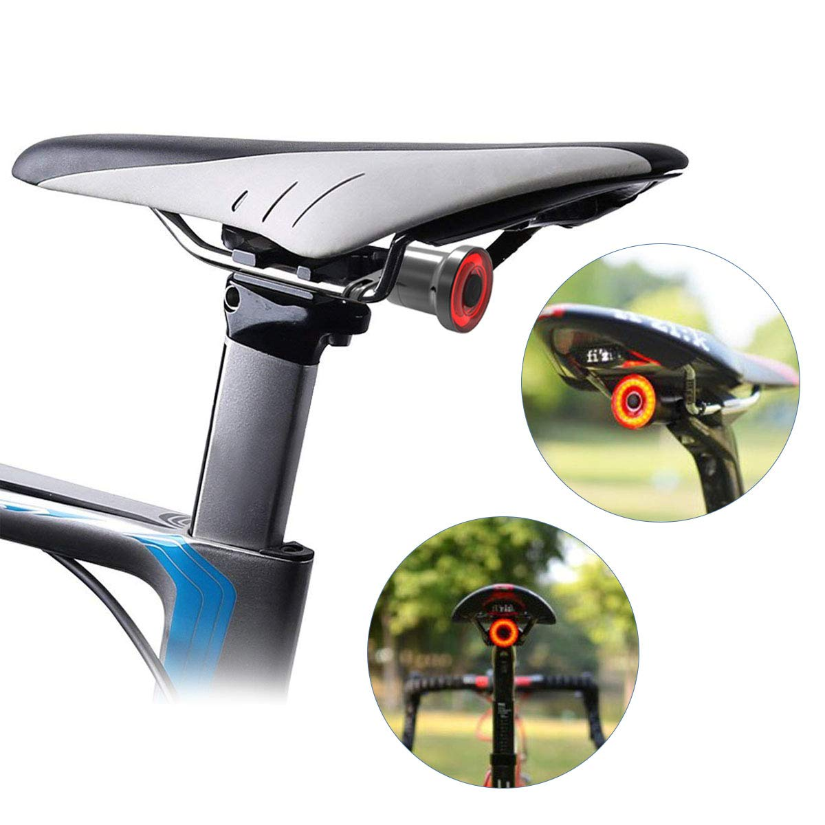 USB Rechargeable Bike MTB Bicycle Rear Tail Light Safety Lamp Taillight COB LED