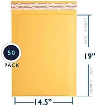 PackageZoom #7 14.5 x 20 Padded Envelopes Kraft Bubble Mailer Shipping Envelopes 50 Pack, Model: PZ-BKB-V00
