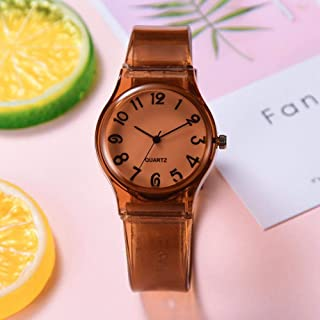 Wristband Women's Wrist Watches Ladies Series Girls Watch Female for Women Silicone Strap Children's Gift Silicone Table,C...