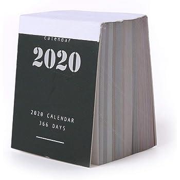 2020 ミニカレンダ ミニマリストデザインスタイル 365日カレンダーデコレーション 卓上カレンダ
