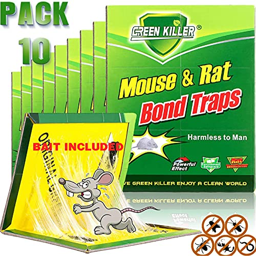 Mouse Traps,Rat Traps,Mouse Traps Indoor,Rat Traps for House,Mouse Glue Traps,Mice Traps for House,Sticky Traps, Glue Boards Professional Strength That Work Capturing Indoor and Outdoor Rat