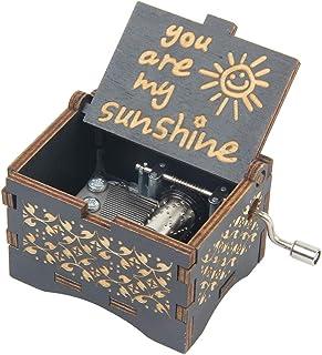 Carillon in Legno con Simpatico Elefante Ornamentale Tune falado Sei Il Mio Sole
