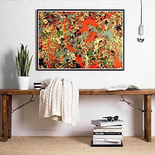 N R 1000 Piezas de Rompecabezas Grandes para niños AdultosJuego de desafío Educativo RompecabezasJackson Pollock Pintura Abstracta75x50cm