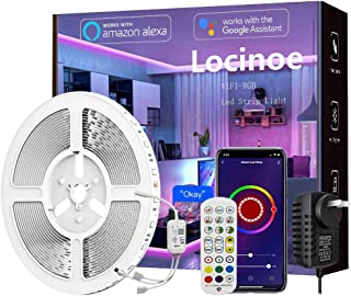 Smart LED Light Strip 32ft - Locinoe 10m WiFi LED Light Strip Compatible with Alexa,Google Home Controlled by Smart APP - ...