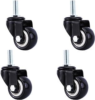2 inch zwenkwielen voor zwaar gebruik, zwenkwielen met schroefdraad, polyurethaan meubelwielen, industriële zwenkwielen, v...