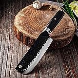 Cuchillo de chef de acero inoxidable Hecho a mano Forjado SHARP CLEAVER Blade ancho Profesional Cuchillo de carnicería Cuchillos de verduras cuchillo chef de (Color : 9)