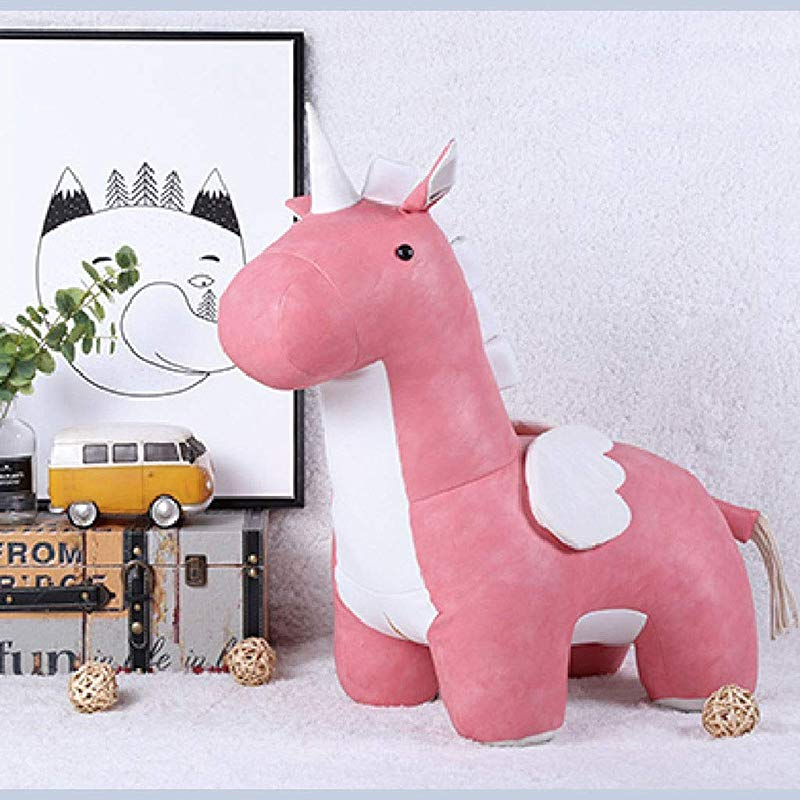 SMC Stool Nordic Unicorn Chair Animal Stools Living Room Bedroom Decoration Children S Room Toys Color Pink