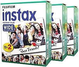 Fujifilm Película fotográfica instantánea 60para cámara Instax Wide 210200100300