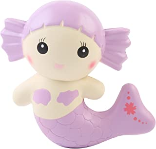 AOLIGE Jumbo Squishy Cute Purple Mermaid Kawaii Cream Scented Very Squishies Slow Rising Decompression Squeeze Kids Simula...