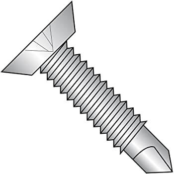 #2 Drill Point Small Parts 0828KPU 1-3//4 Length Pack of 4000 Phillips Drive Zinc Plated Finish Pack of 4000 Steel Self-Drilling Screw 1-3//4 Length Undercut 82 Degree Flat Head #8-18 Thread Size
