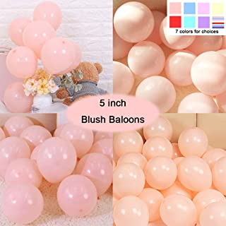 Party Pastel Balloons 200 pcs 5 inch Macaron Candy Colored Latex Balloons for Birthday Wedding Engagement Anniversary Christmas Festival Picnic or any Friends & Family Party Decorations-blush balloons