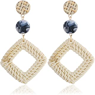 AmDxD Jewelry Earring for Girls Sterling Silver Silver Flower Womens Earrings Dangle 2.38x0.83CM