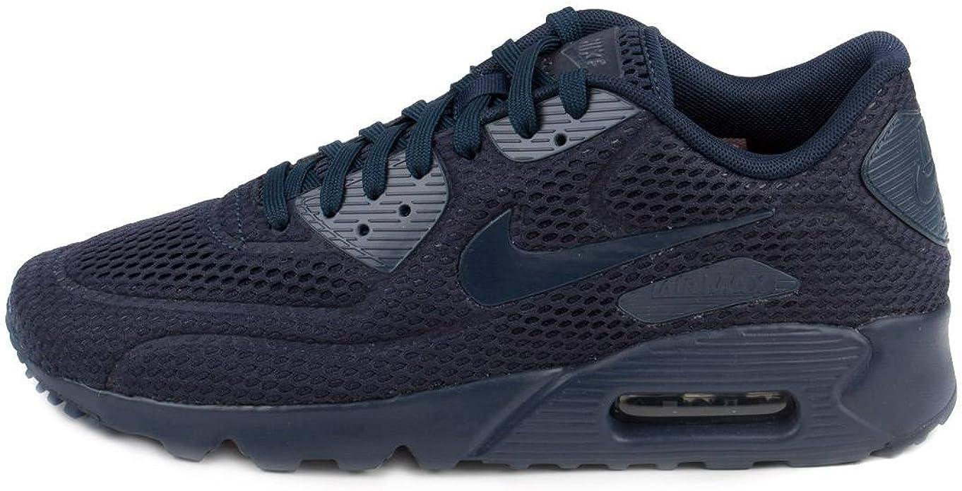Nike Air Max 90 Ultra Breathe, Scarpe da Ginnastica Uomo, Blu ...