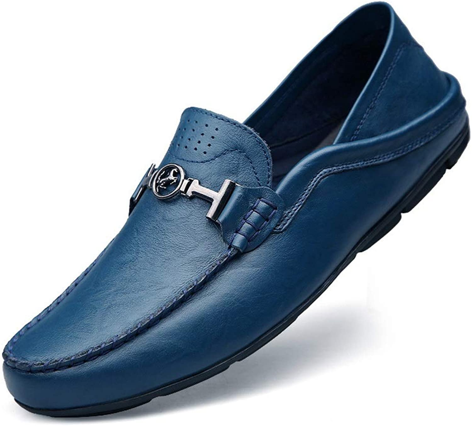 Men's Business shoes Men's Leather Low Cut shoes Comfort Flats Business shoes Boat shoes Driving shoes Loafer Flats Handmade Moccasin-Gommino