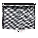 Mesh Net Pocket Mounts with Adhesive Snaps for Auto, RV, or Home Organization and Storage (12' x 15', Black)
