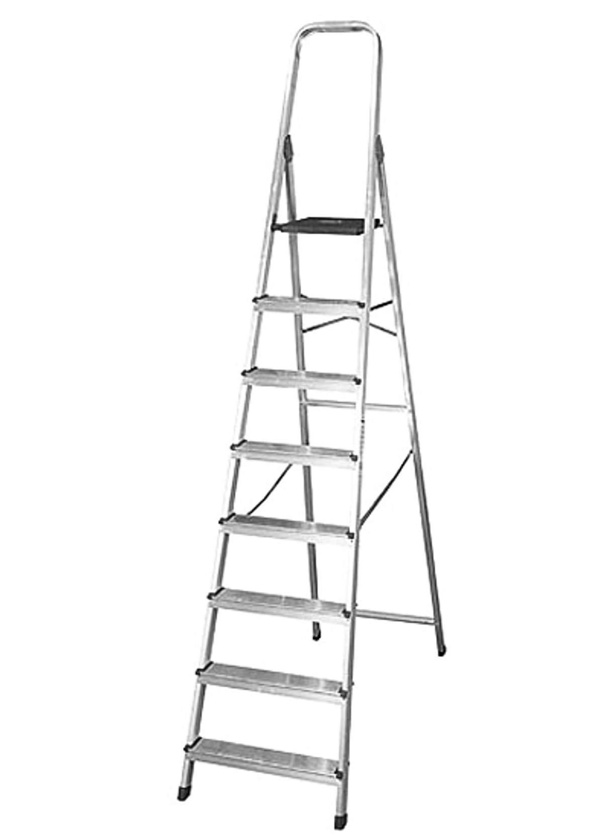 SILBOR 1 Escalera de aluminio de 8 pelda&ntildeos fabricada en ESPA&NtildeA (EN 131), Standard: Amazon.es: Bricolaje y herramientas