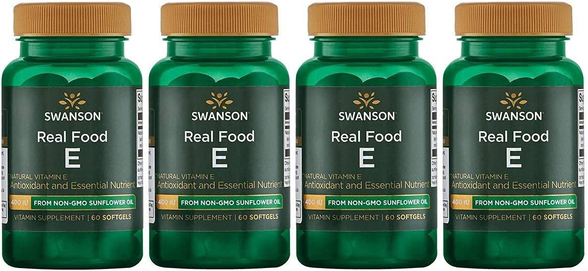Swanson Real Food E from Non-GMO Sunflower 60 400 Oil Iu Sgels 4 5 popular Limited price sale