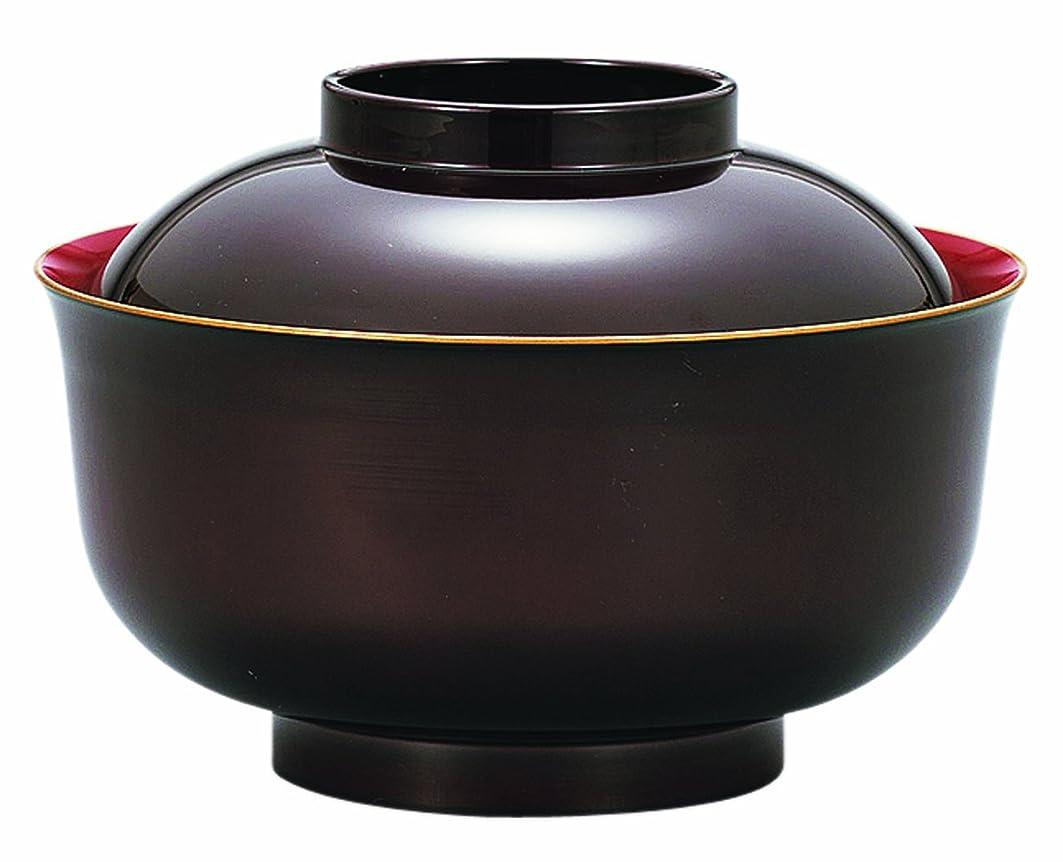 すごいモニカ渇き山中塗 食洗機対応 レンジ羽反雑煮椀 溜渕金 M15269