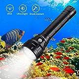 Wurkkos Lampe de plongée,Torche de Plongée 5000 Lumens Rechargeable, étanche IPX8, Lampe de plongée Professionnelle 4 * Samsung LH351D LED...