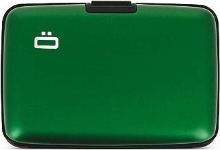 Etui 6 Cartes MeexUp RFID Argent Vert Porte Carte Rigide anti piratage CB