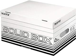 Esselte Leitz Archiv Container S A4 avec couvercle rabattable en carton ondulé Blanc