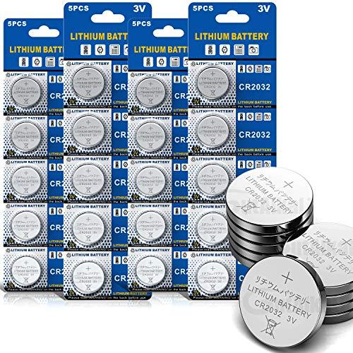 GutAlkaLi Batterie au Lithium (CR 2032, Blister de 20 Piles Lithium 3V)…