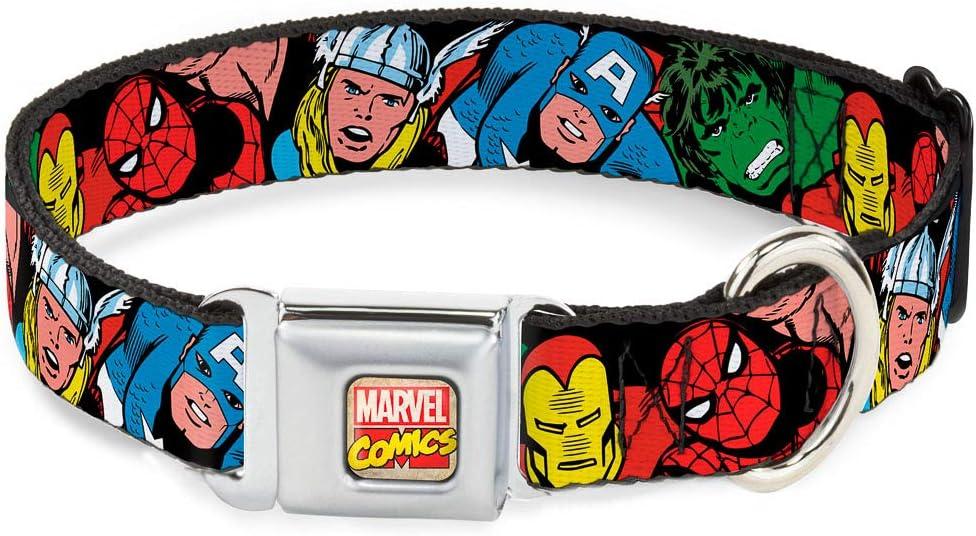 Buckle-Down Seatbelt Buckle Max 89% OFF Dog Collar 5-Marvel overseas Characters Bla -