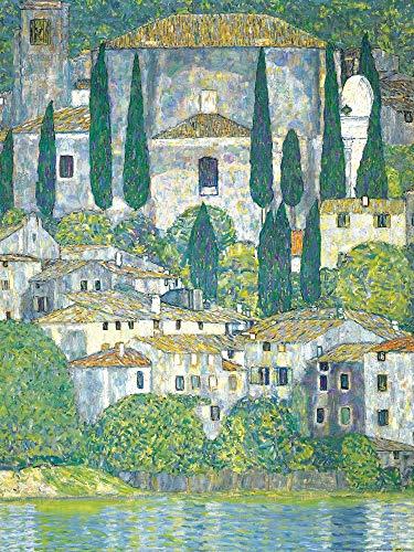 Posters: Gustav Klimt Poster Art Print - Church In Cassone At The Lake Garda, 1913 (32 x 24 inches)