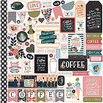Echo Park Paper Coffee Cardstock Stickers 12 X12  Elements