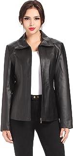 BGSD Women's Tina Lambskin Leather Scuba Jacket (Regular & Plus Size & Petite)