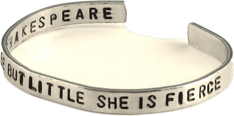 Shakespeare Bracelet - Though She be But Little, She is Fierce -